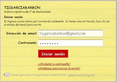 REDE SOCIAL EN NING  DO ALUMNADO DE TIC (A e C)