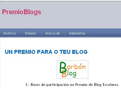 PARTICIPA NO PREMIO DE BLOGS